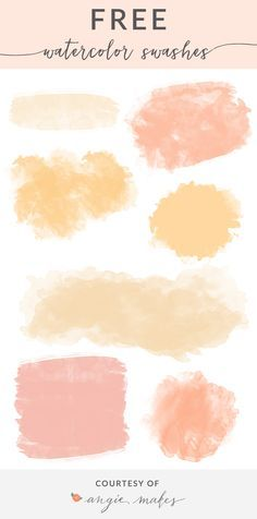 Free Watercolor Swash Backgrounds | angiemakes.com (affiliate)