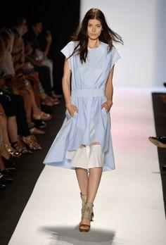 BCBG Max Azria Spring 2014 blue dress inspired by menswear  #minimalist #fashion