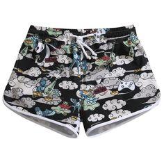 f1c8642f32686 Quick Dry, Swimsuits, Swimwear, Women's Summer Fashion, Panda, Casual Shorts ,