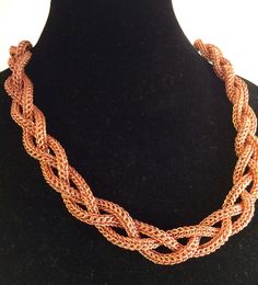 Copper persian chainmail 3 strand braid 30 inch by DarkMoonJules