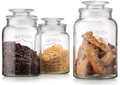 Kitchen Storage Tip: Organize your snacks and dry goods with air-tight food storage jars