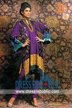 Dark Purple Zingaro, Product code: DR5139, by www.dressrepublic.com - Keywords: Pakistani Brides Magazines 2011 Dresses, Pakistani Wedding Magazines 2011 Party Dresse Online