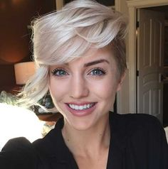 Image result for 2017 blonde pixie cut