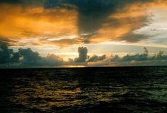 Atardece al oeste de Barbados.