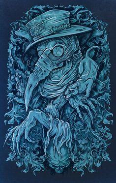 The Black Death on Behance Dark Artwork, Dark Art Drawings, Rabe Tattoo, Doctor Tattoo, Satanic Art, Illustration Vector, Arte Obscura, Occult Art, Black Death