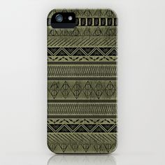 Harry Tribal Print Potter - Hallows Yellow iPhone & iPod Case by E.M. Blood - $35.00