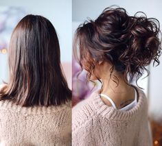 What's the Difference Between a Bun and a Chignon? - How to Do a Chignon Bun – Easy Chignon Hair Tutorial - The Trending Hairstyle Elegant Wedding Hair, Short Wedding Hair, Wedding Hair And Makeup, Wedding Veils, Bridesmaid Hair Updo Messy, Bridal Hair Updo, Medium Hair Styles, Curly Hair Styles, Bun Hairstyles For Long Hair