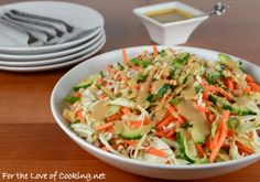 Thai Crunch Salad with Peanut Sauce