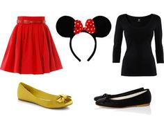 Minnie for Since I have been Hello Kitty for 3 years in a row. I& switching it up and being Minnie Mouse. Disney Halloween, Cute Halloween, Halloween Outfits, Halloween Costumes, Mom Costumes, Homemade Costumes, Costume Ideas, Disney Costumes, Disfraz Minnie Mouse