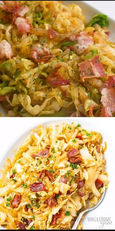 Keto Southern Fried Cabbage Recipe with Bacon - See how to make fried cabbage with just 5 ingredients! This keto Southern fried cabbage recipe with bacon is super flavorful and a total crowd pleaser. Food Recipes For Dinner, Food Recipes Deserts Southern Fried Cabbage, Bacon Fried Cabbage, Chicken And Cabbage, Southern Cabbage Recipes, Recipes With Cabbage, Shredded Cabbage Recipes, How To Cook Cabbage, Cabbage Low Carb Recipes, Roasted Cabbage Recipes
