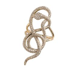 Snake ring by Vanessa Mimran Gold, diamonds