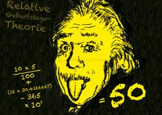 Einladung+50.+Geburtstag+(Einstein)+von+CARDLAAN+auf+DaWanda.com Mehr