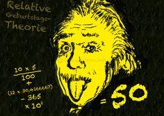 Einladung+50.+Geburtstag+(Einstein)+von+CARDLAAN+auf+DaWanda.com