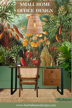 How to create a small home office with bold Biophilic urban jungle decor. With some thoughtful planning and creativity, you can create a perfect little office nook. Check it out how you can create a Biophilic office at home that will increase your productivity, creativity and happiness. #smallofficedesignideas #smallhomeofficenook #homeofficedesign #smallofiicedecor #biophilicofficedesign #urbanjungledecor #homeofficeideasworkstation