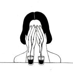 henn kim uploaded by 바네 on We Heart It Art Sketches, Art Drawings, Henn Kim, Deep Art, Sad Art, Black And White Illustration, Aesthetic Art, Art Inspo, Line Art