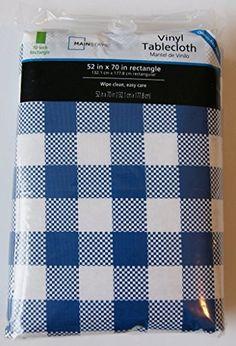 メインステイズ(Mainstays )フランネルバック ビニールテーブルクロス ブルー ギンガムチェック 152.4cm x 213.4cm [並行輸入品] Mainstays http://www.amazon.co.jp/dp/B0164BNNMA/ref=cm_sw_r_pi_dp_wzIjwb18T49VA