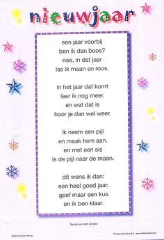 VLL gedicht oud en nieuw Meer bruikbaar voor een eerste leerjaar.