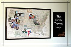 Freshly Completed: The Family Travels map
