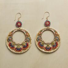 These gorgeous, hand-beaded Miguel Ases earrings make an unforgettable impression.