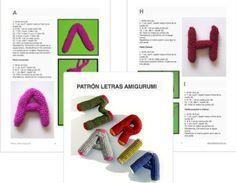 Patrones Crochet: Abecedario crochet letras 3D amigurimis