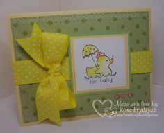 Baby Shower card made with Stampin' Up!