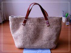 シンプルな麻ひもバッグの作り方 編み物 編み物・手芸・ソーイング 作品カテゴリ アトリエ