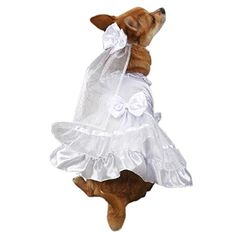 """High Maintenance Dog East Side Collection """"Yappily Ever After"""" Wedding Dress for Dogs, 24"""""""