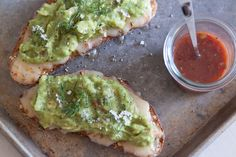 Sometimes the best meals are the most simple! Like this Guacamole Cheese Toast that is piled high with guacamole! It doesn't get easier or better than this!