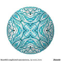 Beautiful complicated cyan moroccan ornament. cutting board  Moroccan ornament make interior unique and add aesthetics sense. Ornament create in oriental tradition. #Home #decor #Room #accessories #Interior #decorating #Idea #Styles #abstract