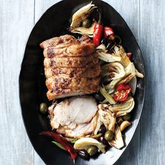 Roast Pork with Fennel, Chiles, and Olives