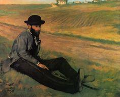 Edgar Degas: Portrait of Eugene Manet, 1874