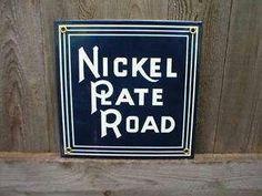 Porcelain railroad sign.  I ❤ this sign!
