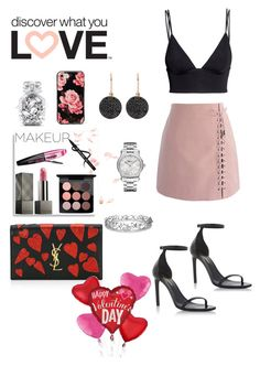 """Glam on Valentine's Day❤️"" by stylebyceylin ❤ liked on Polyvore featuring H&M, Chicwish, MAC Cosmetics, Burberry, Effy Jewelry, L'Oréal Paris, Yves Saint Laurent, Kate Spade, Victoria's Secret and Chopard"