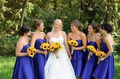 A bold, sunflower wedding!
