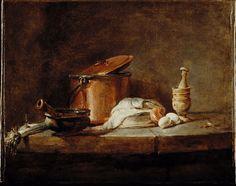 Jean-Siméon Chardin - Ustensiles de cuisine