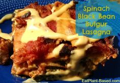 Fasten your seatbelt for the lasagna ride of a lifetime! Want protein and calcium? This monster has 20 grams of protein and 236 mg. of calcium, with only 3 grams of fat (if you use white beans, instead of cashews) per serving!