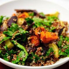 roast vegetable kale salad1