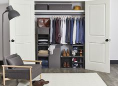 Stax modular storage by Kvell. Modular and stackable, Stax is a quick-assemble storage system for closets that allows for full customization and limitless configuration. Designed to mix and match with four main sizes and organizational insert options available. Stax comes in two neutral colors.