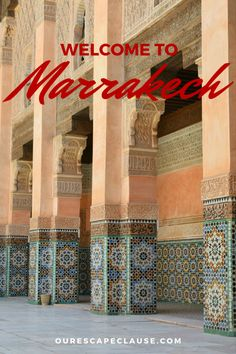 Travel to Marrakech, Morocco for chaotic souks, gorgeous architecture, and a headfirst introduction into Morocco's culture.
