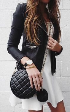 #street #style leather jacket look