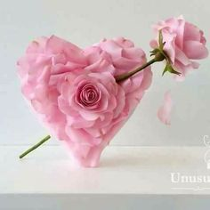 ImageFind images and videos about love, pink and rose on We Heart It - the app to get lost in what you love. Fondant Flowers, Sugar Flowers, Paper Flowers, Gravity Defying Cake, Gravity Cake, Cake Structure, Valentines Day Cakes, Rose Cake, Funeral Flowers