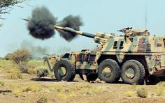 Self-propelled Howitzer in life firing Army Vehicles, Armored Vehicles, Self Propelled Artillery, South African Air Force, World Tanks, Armored Truck, Armored Fighting Vehicle, Tactical Survival, Big Guns