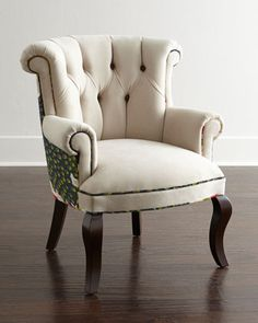 Cream Peacock Chair by Haute House at Neiman Marcus.