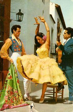 Mexico, vintage postcard  ...Looks more like Spain...