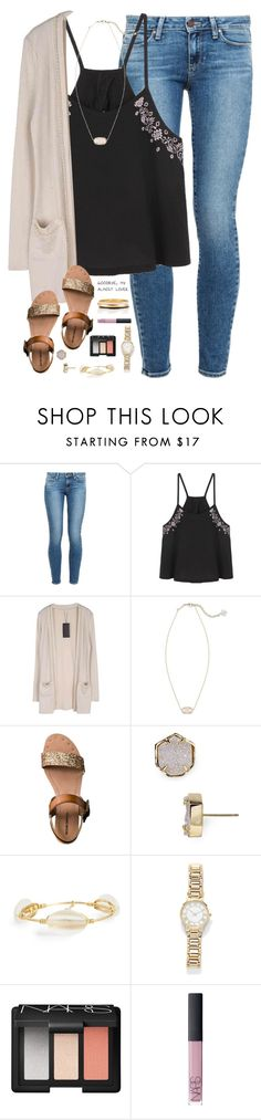 """I love you more and more everyday"" by kaley-ii ❤ liked on Polyvore featuring Paige Denim, Kendra Scott, Mossimo Supply Co., Bourbon and Boweties, Forever 21, NARS Cosmetics and Kate Spade"