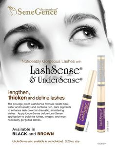 Lashsense and Undersense will make you want to break up with you other mascara!