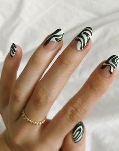 Hair And Nails, My Nails, Cute Nails, Pretty Nails, Cute Acrylic Nails, How To Do Nails, Zebra Nails, Claws, Nail Inspo