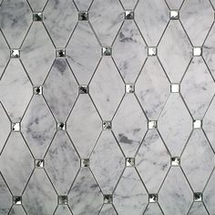 Ivy Hill Tile Mirage Lozenge Carrara in. x 8 mm Marble and Glass Wall Mosaic - The Home Depot Marble Mosaic, Glass Mosaic Tiles, Mosaic Wall, Kitchen Backsplash, Mirrored Tile Backsplash, Mirror Tiles, Wall Tiles For Kitchen, Shower Backsplash, Rustic Backsplash