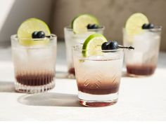 A tart, refreshing riff on a classic Tom Collins with a blueberry twist.
