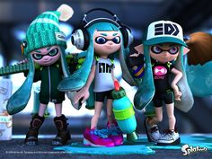 Inkling Girls Splatoon Wallpaper